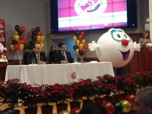 El Gordo was all smiles at the lottery draw, before the bulimia story broke